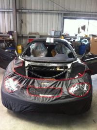 Remplacement d'un pare brise sur une Ferrari challenge stradale